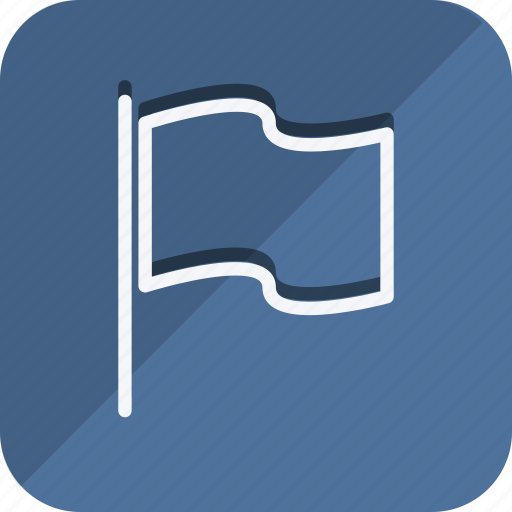 flag, location, map, marker, navigation, pin, position icon