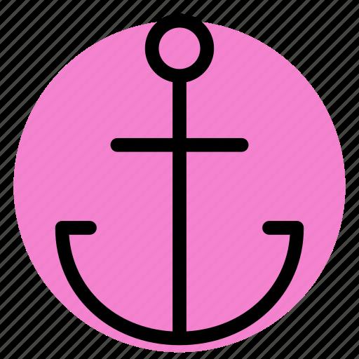 anchor, gps, location, map, navigation, pin, postioning icon