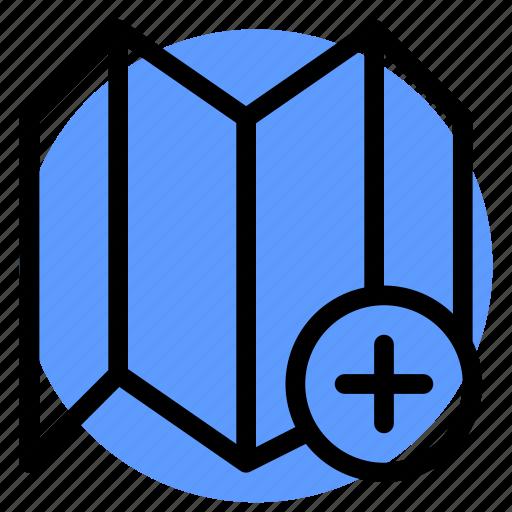 fold map, gps, location, map, navigation, pluse, postioning icon