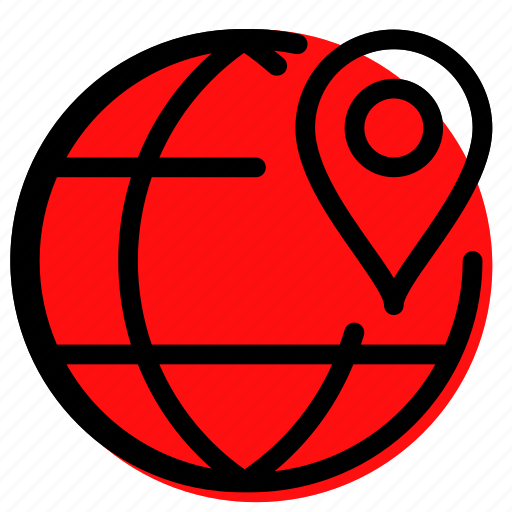earth, global, location, map, navigation, postioning, world icon