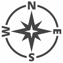 compass, east, geolocation, navigation, north, orientation, south, west, wind rose icon