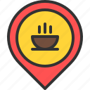 bar, coffee, drink, location, map, pin, tea icon