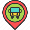 bus, location, map, pin, station, stop, travel