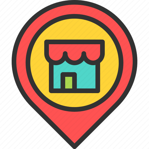 location, map, pin, place, shop, store icon