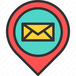 letter, location, mail, map, pin, place icon