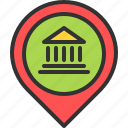 bank, deposit, location, map, money, pin, place icon