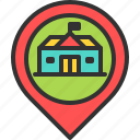 hall, location, map, mayor, pin, town icon
