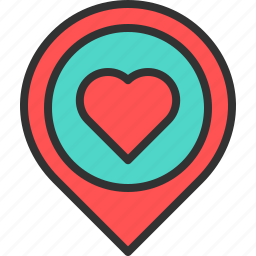 favorite, health, hearth, like, location, map, pin icon