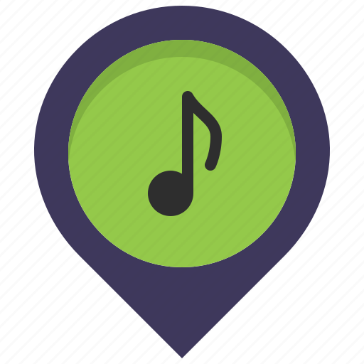instrument, location, map, music, pin, place, store icon