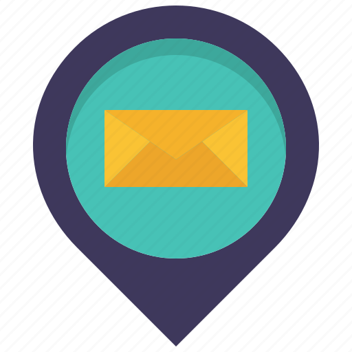 letter, location, mail, mailling, map, pin, place icon