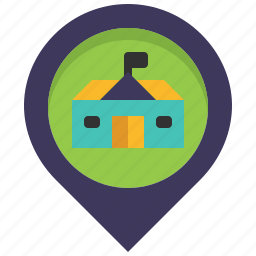 hall, house, location, map, mayor, pin, town icon