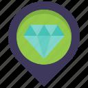 diamond, jewel, jewelry, location, map, pin, store