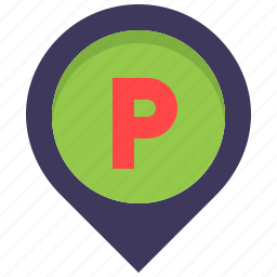 car, location, map, park, parking, pin, place icon