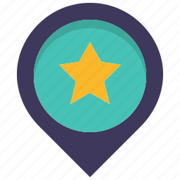 favorite, like, location, map, pin, place, star icon