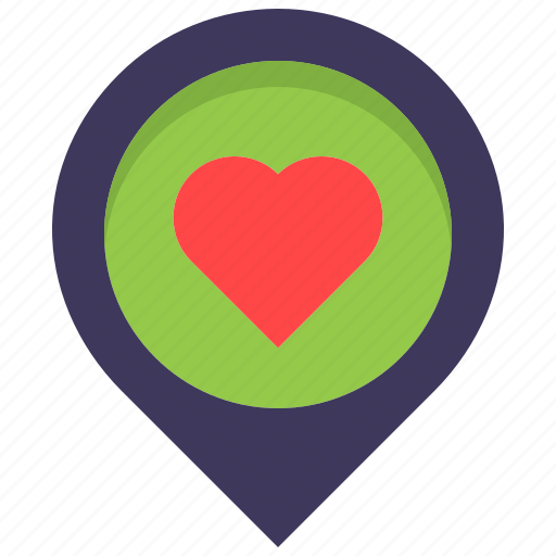 favorite, health, heart, like, location, map, pin icon