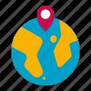 globe, world, earth, navigation