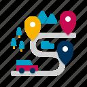 multiple, destinations, navigation icon