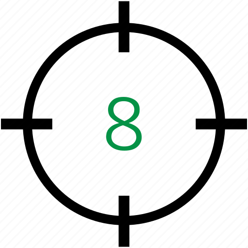 eight, number icon