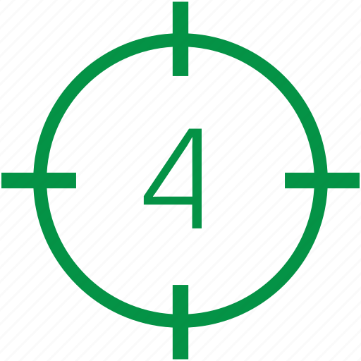 four, number icon