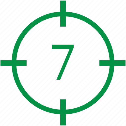 number, seven icon
