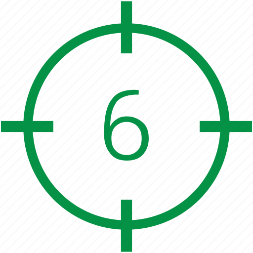 number, six icon
