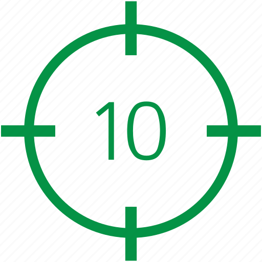 number, ten icon