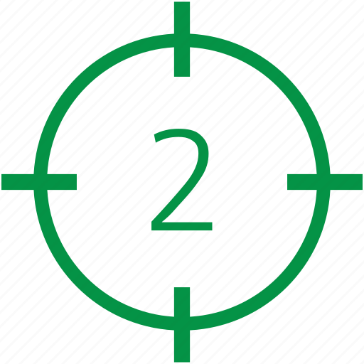 number, second, two icon