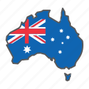 map, australia, country, geograpgy, travel, contour, flag