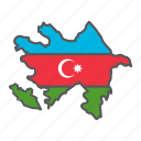 map, azerbaijan, country, geograpgy, travel, contour, flag