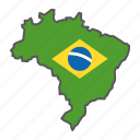 map, brazil, country, geograpgy, travel, contour, flag