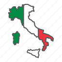 map, italy, country, geograpgy, travel, contour, flag