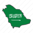 map, saudi, arabia, country, geograpgy, travel, flag