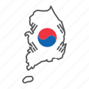 map, south, korea, country, geograpgy, travel, flag