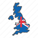 map, united, kingdom, great, britain, country, flag