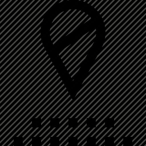 gps, line, pins icon