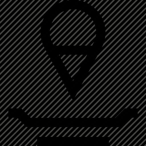 design, map, pin icon