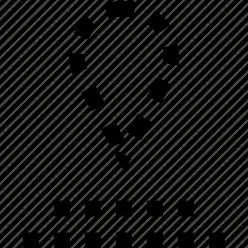 data, locate, pin icon