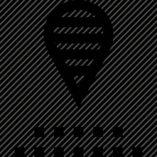 gps, pin, pins icon
