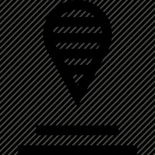 gps, line, lines icon