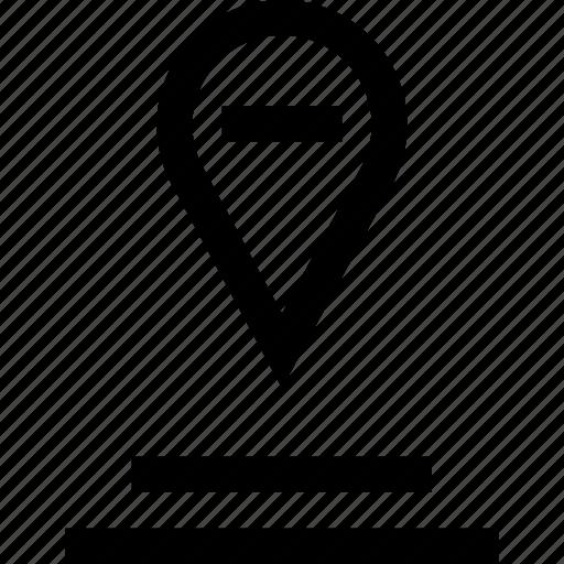 gps, line, neutral icon