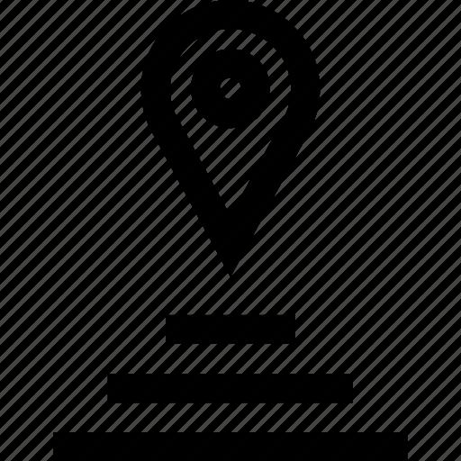 detail, gps, pin icon