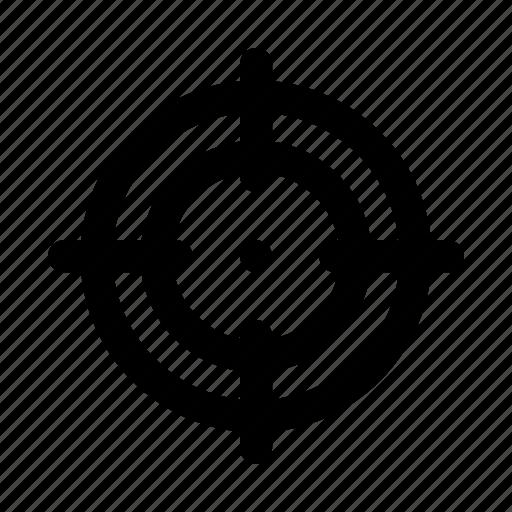 focus, location, map, pin, pointer, target, targeting icon