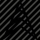arrow, baering, direction, gps icon