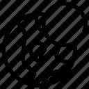 block, disable, earth, globe icon