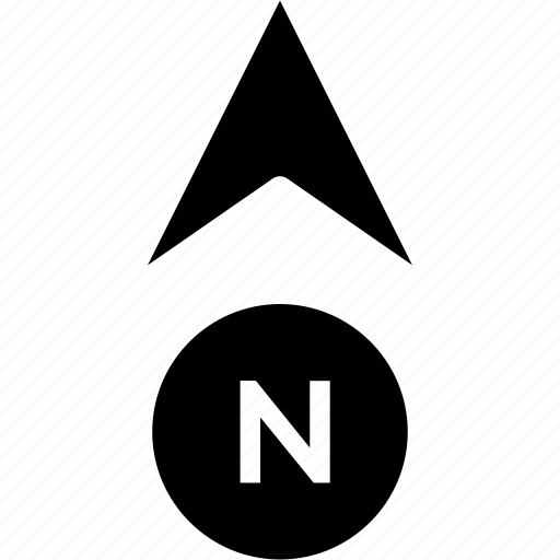 compass, gps, heading, map, north icon