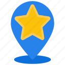favourite, location, travel, star, like, pin, starred icon
