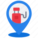 gas, station, pin, travel, petrol, gasoline, location icon