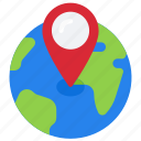 global, location, globe, pin, earth, world