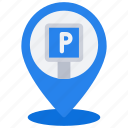 parking, pin, travel, location, map, park, parked