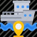 sea, navigation, travel, boat, boating, location, pin